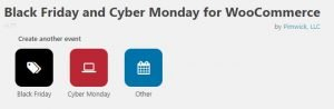 Screenshot of the Black Friday and Cyber Monday Deals Plugin