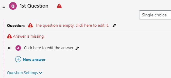 Screen shot 5 of the question setup from the LearnDash LMS WordPress Plugin.