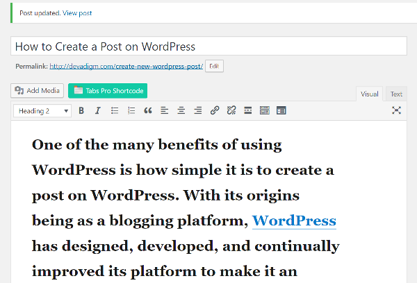 Devadigm, a Cape Cod based web development company, teaches how to create a post in WordPress