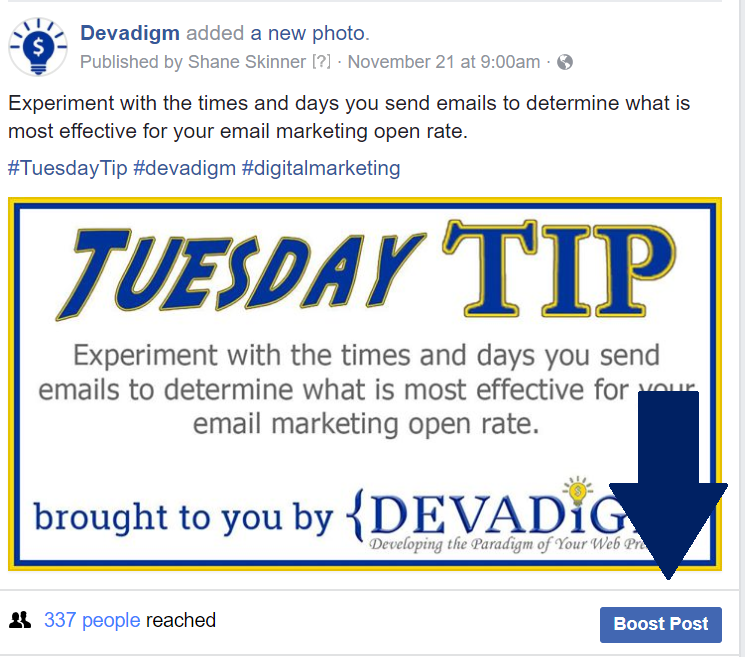 How to boost a post on Facebook to promote your new website