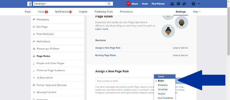 This tutorial by Devadigm explains how to assign Facebook page roles so multiple users can post to and edit your Facebook page