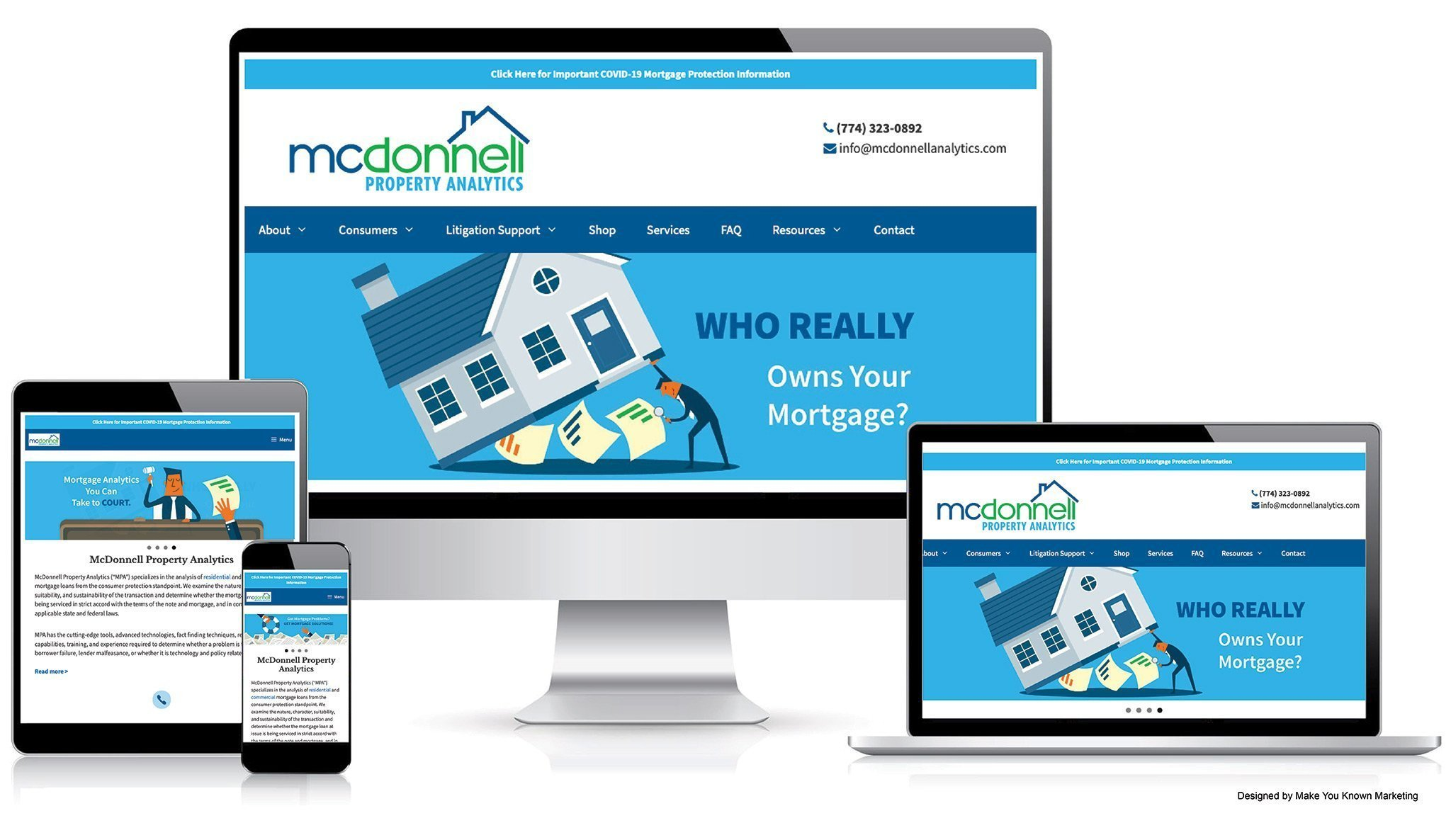Devadigm developed a new website for McDonnell Property Analytics, mcdonnell analytics dot com. The website was designed by Make You Known Marketing.