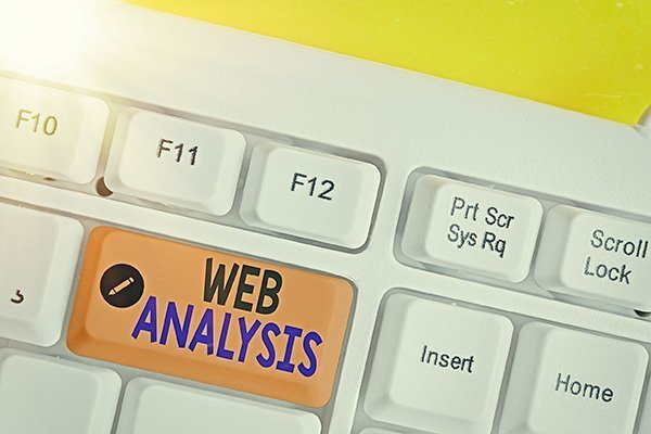 "Keyboard key that says, ""Web Analysis"". Devadigm will perform an in-depth analysis of a websites search engine rankings and provide an optimization strategy."