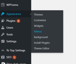 Setting a primary navigation menu in a WordPress website