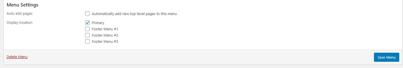 Setting a primary nav menu in WordPress